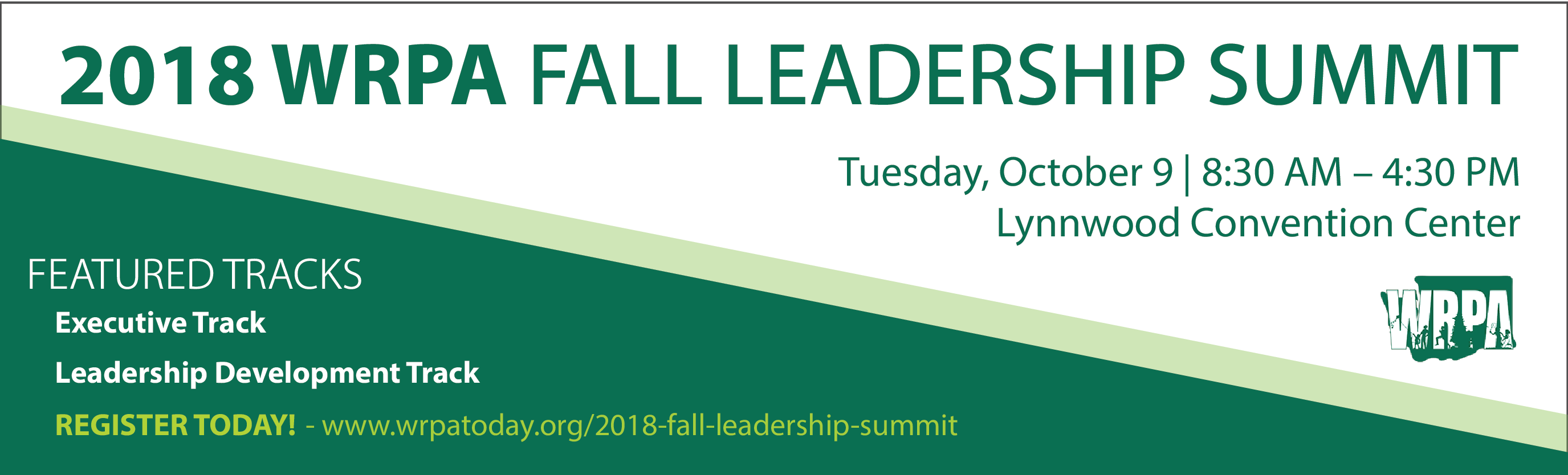 2018 WRPA Fall Leadership Summit