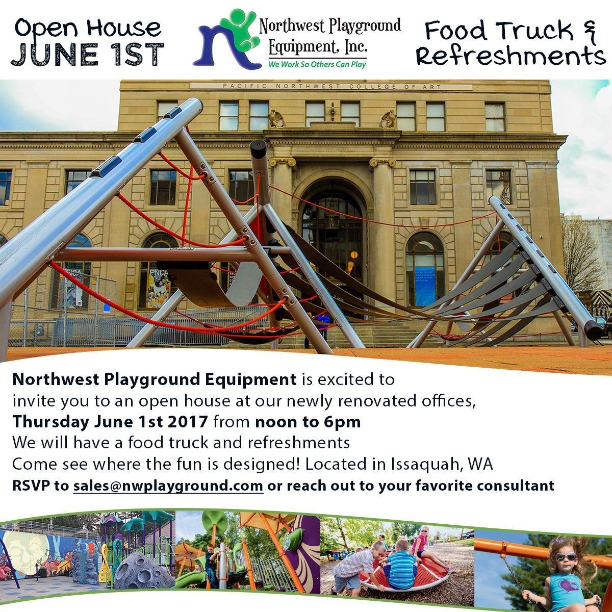 NW Playground Equipment Open House